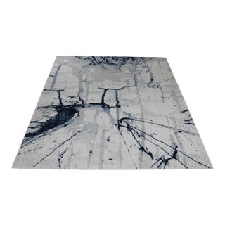 Blue Abstract Painting Rug - 8' x 11'4''