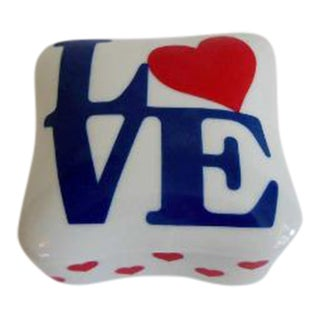 Vintage Pop Art Robert Indiana Love Trinket Box
