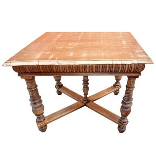 Antique Italian Library Table
