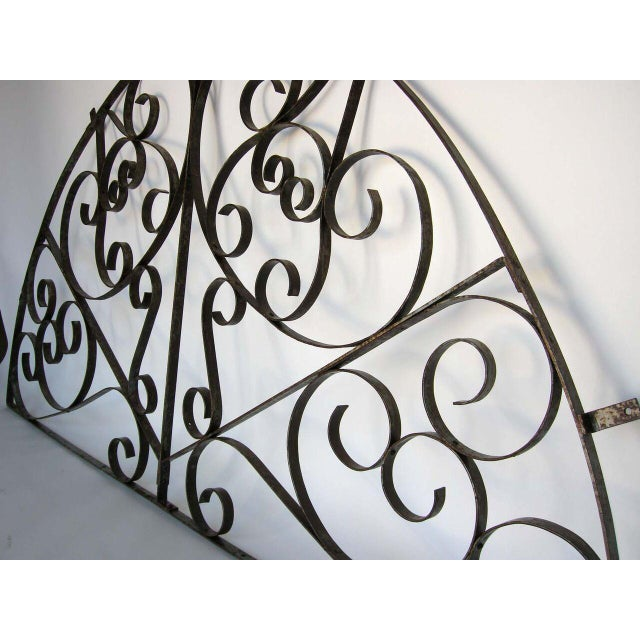 Large Scale Decorative Iron Architectural Arch - Image 3 of 10