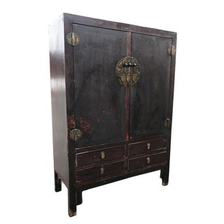 Antique Chinese Qing Dynasty Wardrobe Cabinet