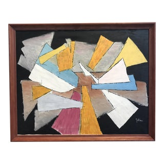 Mid-Century Framed Abstract Composition