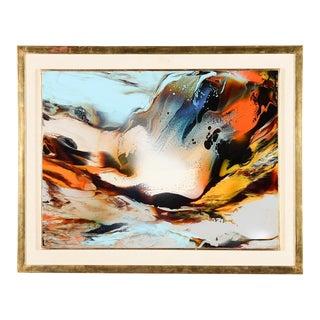 Leonardo Nierman Abstract Flames Oil Painting