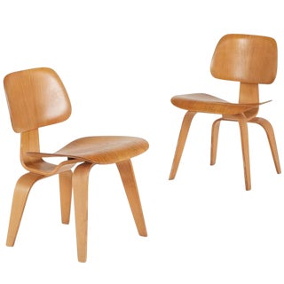 1940s DCW Eames Molded Plywood Chairs - A Pair