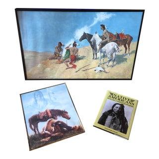 Native American Prints & Book - Set of 3