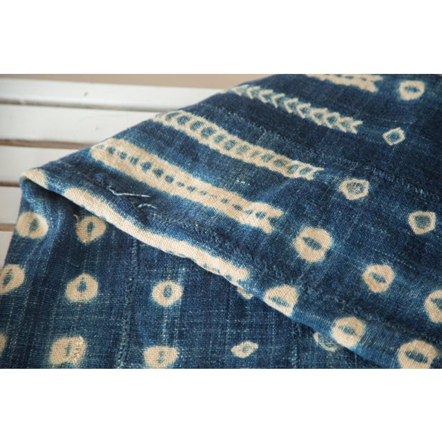 """Vintage African Textile Throw - 3'4"""" X 5' - Image 4 of 6"""