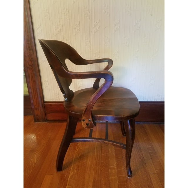 Vintage Restored Wooden Office Chair - Image 7 of 9