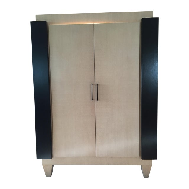 Ash & Wenge Armoire Media Cabinet - Image 1 of 5