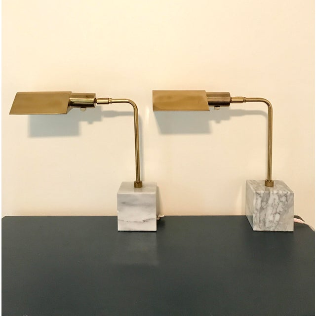 Koch & Lowy Mid-Century Brass Table Lamps- a Pair - Image 3 of 11