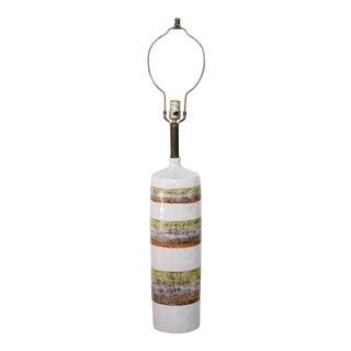 Italian Striped Ceramic Table Lamp signed Raymor