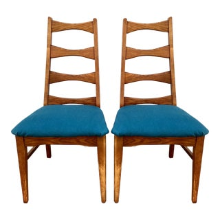 Mid Century Ladder Back Chairs - Pair