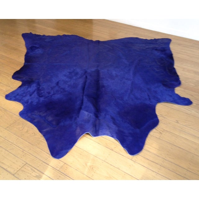 Xl Purple Rug: Hide Rug - XL Solid Dye BlueDeep Purple