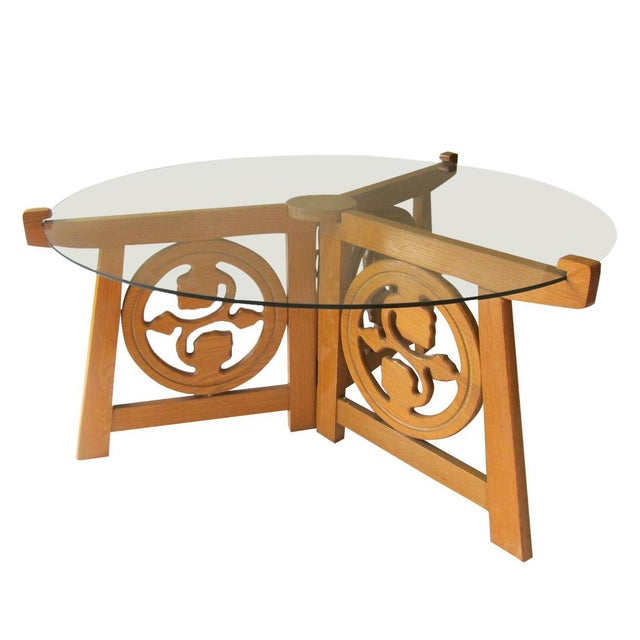 Image of Teak & Glass Coffee Table