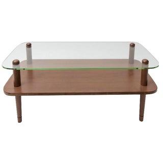 Gilbert Rohde Glass & Walnut Coffee Table