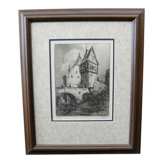 German Engraving of Rothenburg Ob Der Tauber