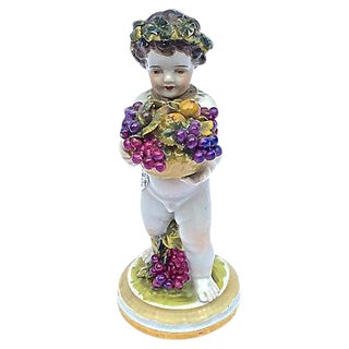 Meissen Antique Porcelain Cherub Figurine