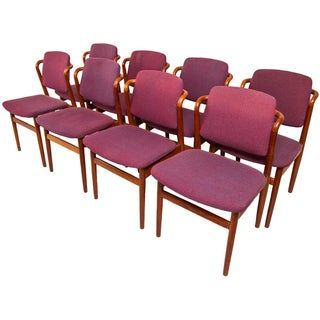 Rare Danish Modern Teak Dining Chairs - Set of 8