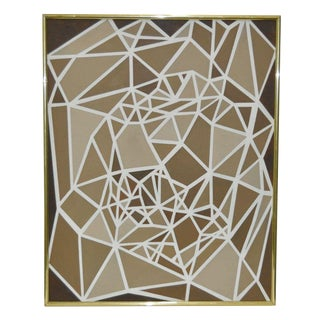 1970s Vintage Geometric Abstract Painting