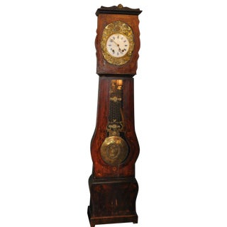 19th C. French Painted Mobilier Clock