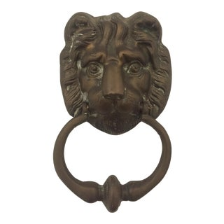 Brass Imperial Lion's Head Door Knocker