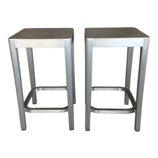 Emeco Aluminum Counter Stools - A Pair