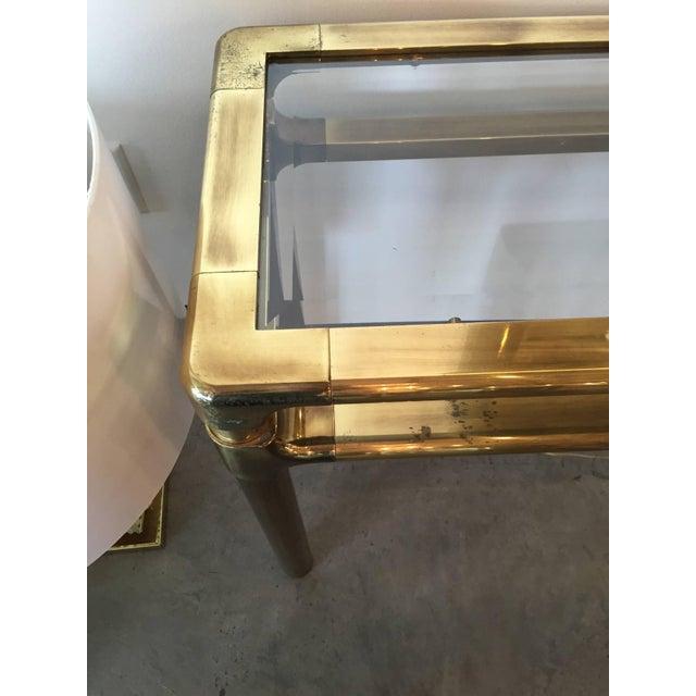 Image of Mastercraft Brass and Glass Console