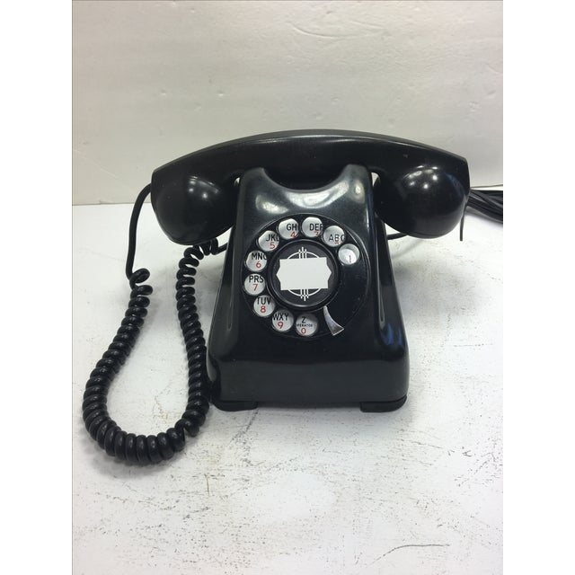 Image of Kellogg Red Bar Rotary Dial Telephone