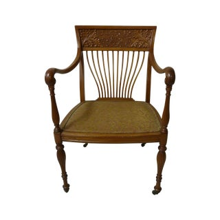 Aesthetic Movement Carved Desk Chair