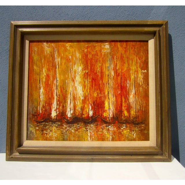 Modernist Abstract Painting - Cityscape/Waterscape - Image 4 of 11