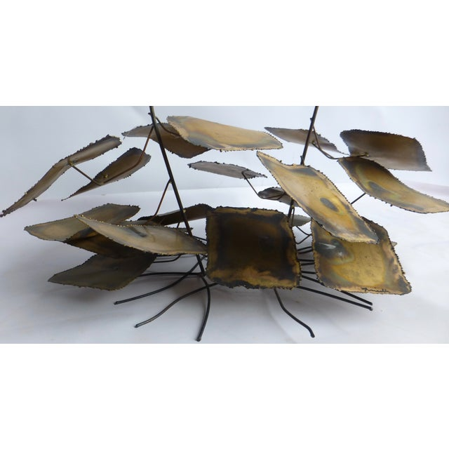 Image of Signed Friedle Metal Wildflower Sculpture