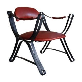 Mid-Century Flat Bar Accent Chair