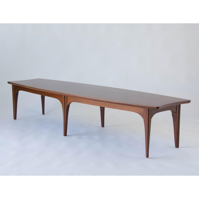 American Walnut & Rosewood Surfboard Coffee Table - Image 7 of 7