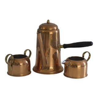 Vintage Coppercraft Coffee and Tea Serving Set - 3 Pc.