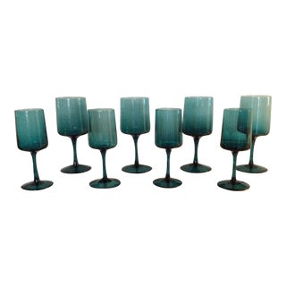 Turquoise Glasses - Set of Eight