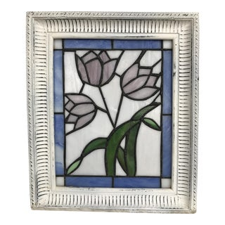 Stained Glass Tulips Window Hanging