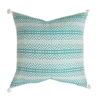 Turquoise Handwoven Mexican Pillow