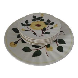 Vintage Floral Dessert Set - 7 Pieces