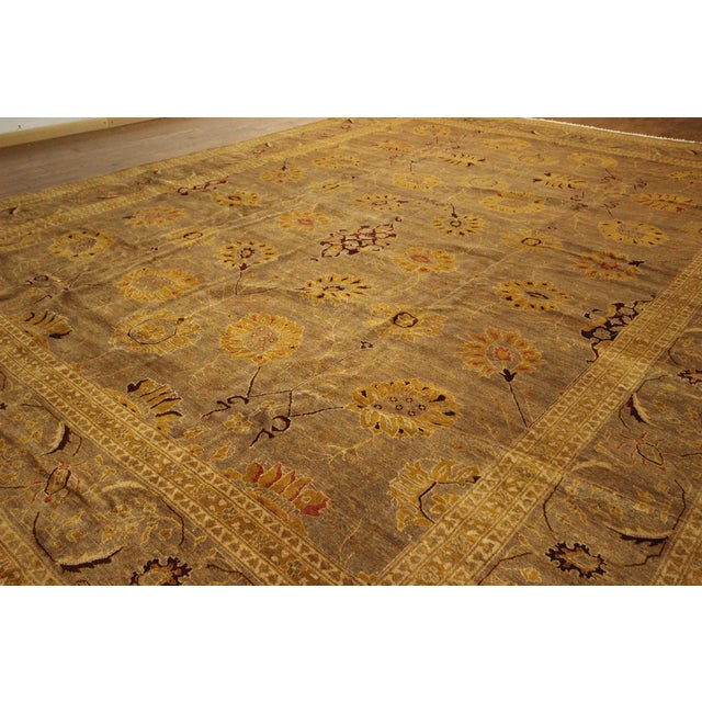 """Oushak Collection Brown Rug - 12'1"""" x 15'10"""" - Image 4 of 10"""
