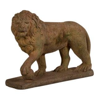 Antique English Lion Garden Stone Sculpture, Southampton, circa 1900