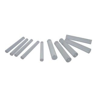 Modernist Lucite Rod Display Risers- Set of 10