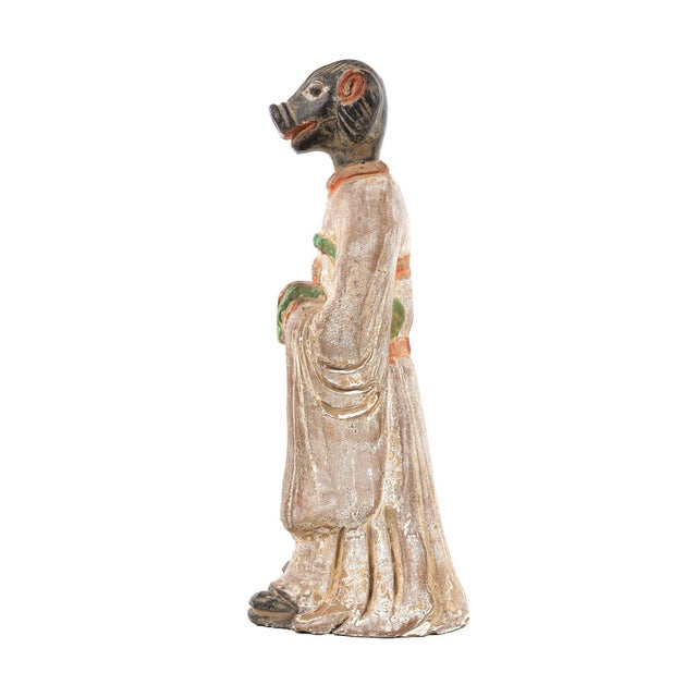 Antique Chinese Zodiac Pig Figurine - Image 3 of 9
