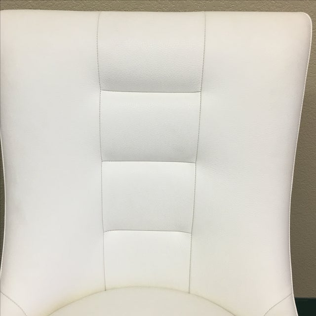 Dakota Jackson White Leather Marina Odile Chair - Image 8 of 10