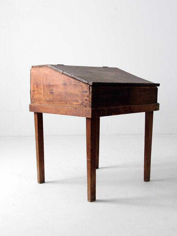 1800s Antique Slant Top Desk Chairish