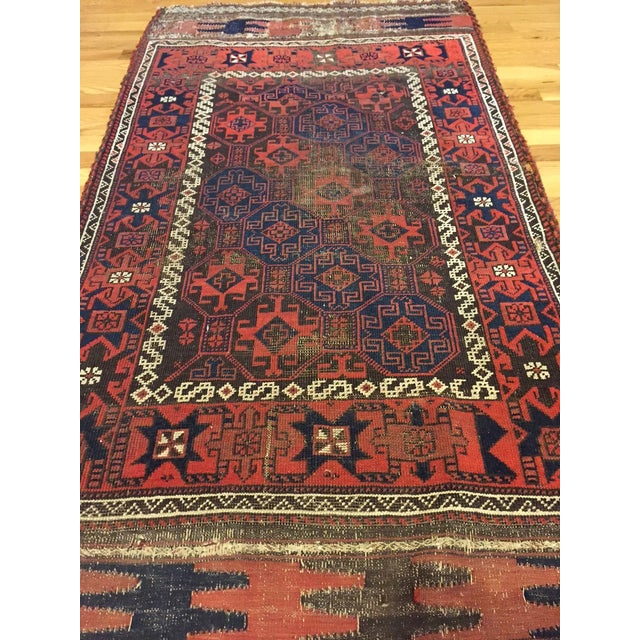 "Vintage Tribal Persian Rug - 3' x 5'10"" - Image 4 of 7"