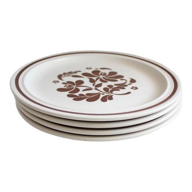 Image of Vintage Stoneware Dinner Plates - Set of 4