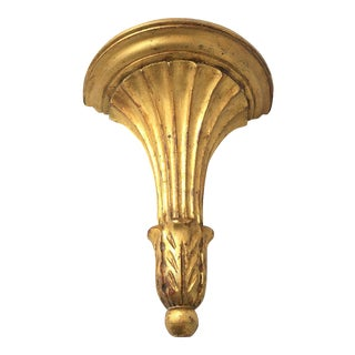 Italian Gilt Wood Wall Shelf Sconce
