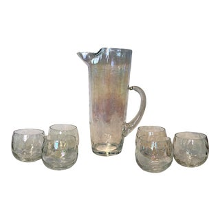Contemporary Roly Poly's Glasses & Pitcher - Set of 7