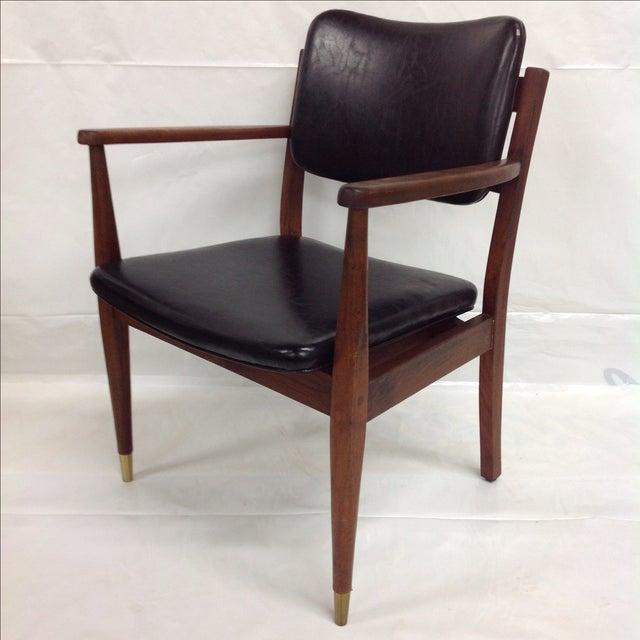 Danish Modern Oiled Walnut Executive Chair - Image 2 of 5