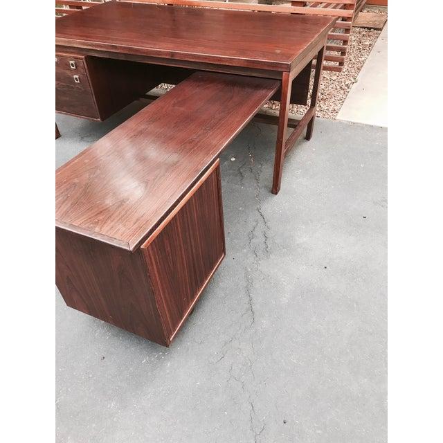 Arne Vodder Executive Rosewood Desk - Image 5 of 5