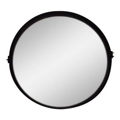 Round Pivot Iron Mirror - Image 1 of 6